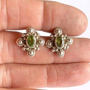 Jewelry - Sterling Silver Peridot Stud Earrings